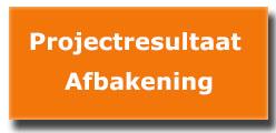 Afbakening projectresultaat