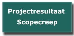 Projectresultaat scopecreep
