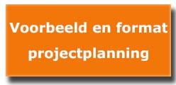 voorbeeld en format projectplanning