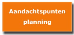 aandachtspunten planning project