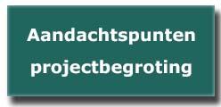 aandachtspunten projectbegroting