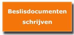 training beslisdocumenten en projectdocumenten schrijven